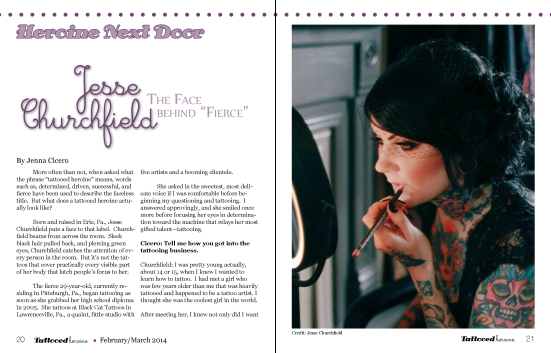 Tattooed Heroine preview first issue dominatrix jesse churchfield Christel Perkins tattoo artists